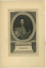 ANTIQUE KING GEORGE PRINTED FOR J. HINTON AT KINGS ARMS PASTERNOSTER ROW PRINT