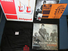 Rolling Stones Stripped UK Double Vinyl LP with Limited Box T-Shirt Keyholder