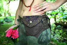BROWN Utility Belt - Festival Hippy Fanny Pack Pocket Psy Trance Goa Bum Bag Hip