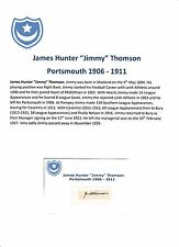 JIMMY THOMSON PORTSMOUTH 1906-1911 EXTREMELY RARE ORIGINAL HAND SIGNED CUTTING