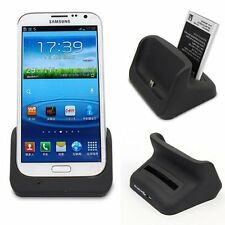 Dual Desktop Cradle Dock Battery Charger For Samsung Galaxy Note 2 II N7100 NEW
