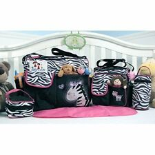 Soho Collection, Zebra Diaper Bag 5 Pieces Set