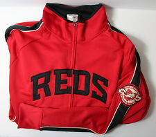 Cincinnati Reds Men's Large National League Track Jacket MLB Majestic W MARK