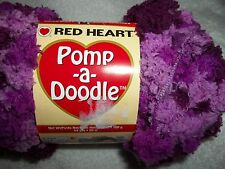 1 Skein Red Heart Pomp-A-Doodle Yarn------Plush Plum            NEW!!