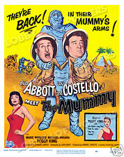 ABBOTT AND COSTELLO MEET THE MUMMY LOBBY CARD POSTER WC 1955