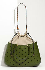 Authentic  FENDI B FAB GREEN PERFORATED BAG - NEW!