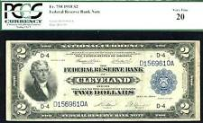 1918, $2 Fr#758 Frbn- Finest Known Cleveland, only 21 reported! Very rare! Pcgs