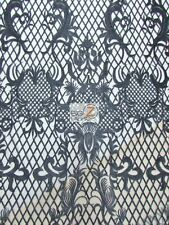 WICKED CHECKERED DRESS LACE FABRIC - Black - BY THE YARD BRIDAL FASHION PROM