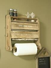 Foil Cling Film Kitchen roll Dispenser holder wooden home condiment rack painted