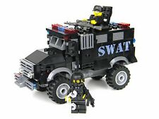 Basic SWAT Truck police armored vehicle made w/ real LEGO® bricks and minifigs