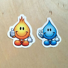 World Industries skateboard vinyl sticker wet willy bumper decal mini flame boy