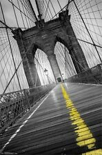 BROOKLYN BRIDGE - POP POSTER - 22x34 NEW YORK CITY NYC PHOTO 13679