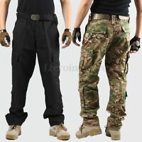 Mens Army Military Combat Trousers Camo Pants Airsoft Work Cargo
