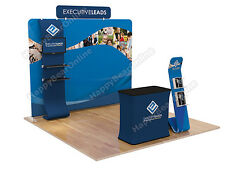 Trade show A7 Display booth package 10ft (TV stand, Display shelves, Header)