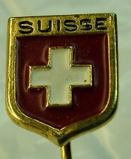 Switzerland Suisse used Hat Lapel Pin Tie Tac HP1300