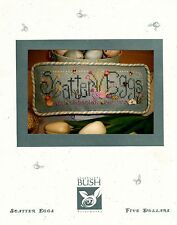 "Shepherd's Bush ""Scatter Eggs"" cross stitch pattern Easter Spring OOP"