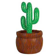 Western CACTUS BEVERAGE COOLER Party Decoration FIESTA Desert