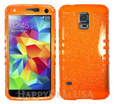 KoolKase Hybrid Silicone Cover Case for Samsung Galaxy S5 i9600 - Glitter Clear