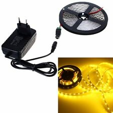 5M SMD 3528 300LED Yellow Nonwaterproof LED Strip Light &12V DC& 2A Power Supply