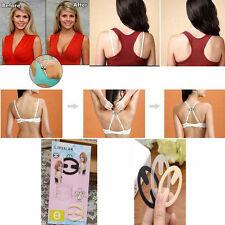 3 PACK x BRA STRAP CLEAVAGE CONTROL SPORTS RACERBACK BUCKLE TOP CLIPS GREAT GIFT