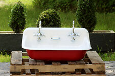 "36"" Antique Inspired Kohler Farm Sink Cast Iron Porcelain Trough Sink"