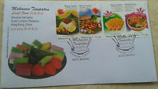 Malaysia 2014 Local Food K.Lumpur - Hong Kong Joint Issue ~ FDC#2