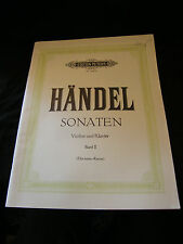 Partition Handel Sonaten Violine und Klavier Band II Editions Peter