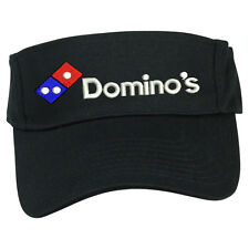 DOMINO'S PIZZA DELIVERY SUN VISOR CAP HAT ADJUSTABLE