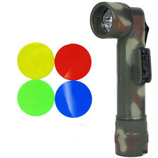 Army FLECKTARN Camo Right-Angle TL-132 TORCH Medium Military LED Flashlight