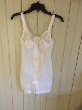 N W/O Tags Vintage Adonna body suit shaper girdle all in one w/garters sz 32B
