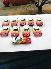 VINTAGE TEN PIECE AURORA AFX SLOT CAR BODY GROUP / 1981 / RED WHITE CORVETTE!!!