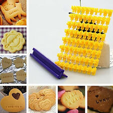 New Alphabet Letter Cake Mould Biscuit Cookie Press Stamp DIY Tool