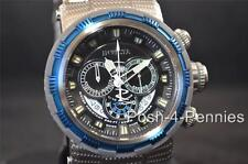 INVICTA MENS RESERVE 48MM CAPSULE QUARTZ CHRONO BLUE SILVER BRACELET WATCH 80298