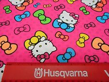 HELLO KITTY WITH BOWS ON PINK FABRIC BY 1/2 YD NEW SPRINGS CREATIVE