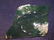 "Green  Moss  Agate  slab    4 1/8"" x 3  3/8"" --- rough-cabbing--display"
