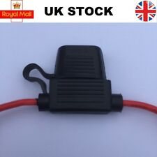 In-line Standard Blade Fuse Holder Splash Proof for 12V Car Bike Regular 30A 40A