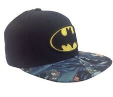 New Men's Batman DC Comics Dark Knight Snapback Hat Baseball Cap Black Graphic