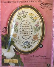 To Love and Be Loved Cross Stitch Sampler KIT Oval Vintage New 0265 Paragon