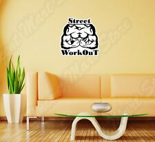 """Street Work Out Muscles Bodybuilding Wall Sticker Room Interior Decor 22""""X22"""""""