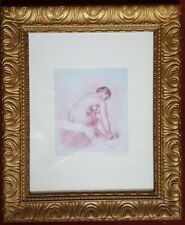 RENOIR OLD PRINT FRAMED IN AN OLD FRAME OF A NAKED LADY, £: 37.75, IF COLLECTED.