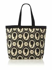 Lulu Guinness Black & Cream Cameo Print Luisa Tote Shoulder Bag New With Tags