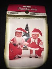 NIP Fibre Craft Campbell Soup Kids Doll Santa And Mrs Claus Outfits 1995