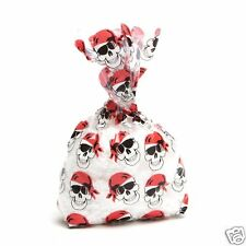 Pirate Cello Treat Loot Bags for Birthday Party, Halloween, 12pc Favor Bags Ties