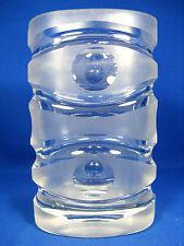 VINTAGE 70´s POP ART DESIGN PEILL & PUTZLER GLASS  GLAS VASE 21 cm  2610 Gramm