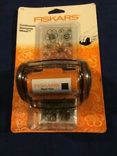 Fiskars Continuous Stamping Wheel with Cartridge and Clear Stamp Starter Set