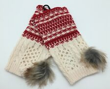 NWT Nordic Wrist Warmers with Fur Poms  by Simply Noelle