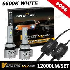 BroView V8 9006 9012 HB4 Cree 12000LM Headlamp Low Beam LED Replace HID&Halogen