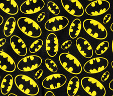 Patchwork Quilting Sewing Fabric BATMAN BLACK Material Cotton 50x55cm New