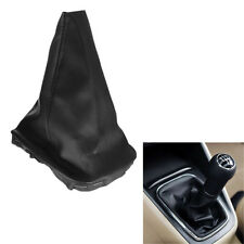 Black Leather Gear Stick Shift Knob Gaiter Cover For VW Golf MK4 IV 98-03 New