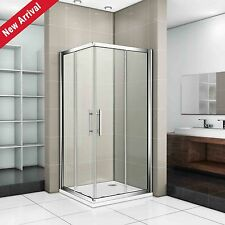 760x760mm Sliding Shower Enclosure Door Corner Entry Square Cubicle Glass Screen